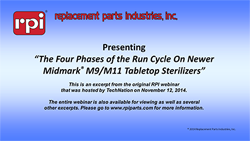 The Four Phases of the Run Cycle on Newer Midmark® M9 & M11 Tabletop Sterilizers (18:32)