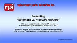 Automatic vs. Manual Sterilizers (11:50)