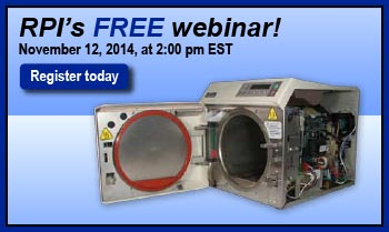 You're Invited to Participate in RPI's First Webinar on Tabletop Sterilizers!