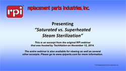 Saturated vs. Superheated Steam Sterilization (4:35)