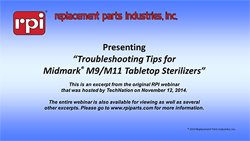 Troubleshooting Tips for Midmark® M9 & M11 Tabletop Sterilizers (33:34)